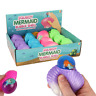 SQUISHY MERMAID BUBBLE SHELL - NV364 STRESS RELIEVER SQUEEZE TOY COLOURFUL ARIEL
