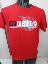 DIESEL Mens T SIZE Small  Shirt Red Short Sleeved Fitted