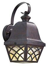 DAR Wexford 1 Light Lattice Lantern Bronze Outdoor Wall Light