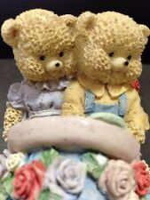 """""""COUNTRY CUBS BEARS DRIVING/RIDING IN CAR"""", HEARTS AND FLOWERS, 3"""" X 4"""" X 2 1/2"""""""