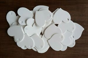 50 CARD HEART SHAPED GIFT TAGS