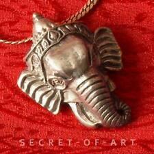 Edler Ganesha Ganesh Elefant Messing Anhänger Amulett aus Nepal