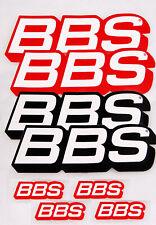 BBS Aufkleber/Sticker Kombi-Set = 8 Stück