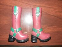 My Scene Barbie Doll Brown/Green Boots Very Nice Condition