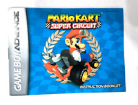 Mario Kart Super Circuit NINTENDO GAMEBOY ADVANCE GBA Instruction Manual ONLY!