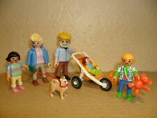 PLAYMOBIL GRANDPARENTS (Pram,children,dog,grandma,grandpa,Baby)