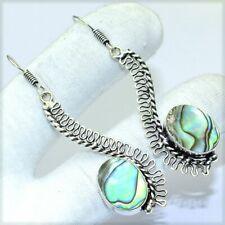 MULTI COLOR ABOLON SHELL  Gemstones Handmade SILVER PLATED EARRING ER637