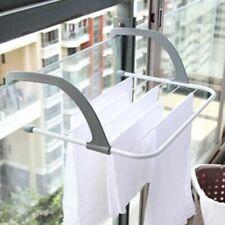 Adjustable Folding Dry Wall Rack Shelf Balcony Multi-use Clothes Drying Hanger
