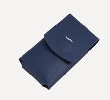 NEW ST Dupont Leather Slim 7 Jet Lighter Case Holder Blue 183063