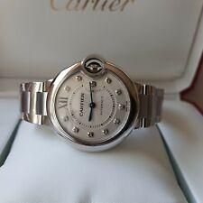 NEW Cartier Balllon Bleu Ladies Watch WE902074 Diamond Markers Extended Warranty