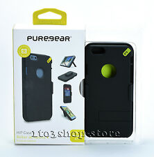 PureGear HIP Wallet Case + w/Kick Stand Belt Clip for iPhone 6 iPhone 6s (Black)