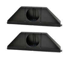 Attwood Boat Vent Collector Boxes 1342-1 | 4 Inch Black Plastic (Pair)