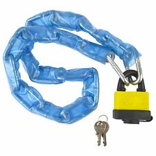 Lock and Chain With Plastic Cover Heavy Duty Waterproof Padlock TE358