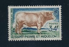 "1964 St. Pierre & Miquelon ""CHAROLAIS BULL"" #373, USED"