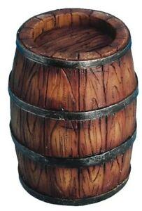 1/12th Scale Dolls House 6.5cm 'Wooden' Effect Barrel