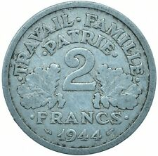 COIN / FRANCE / 2 FRANCS 1944 BEAUTIFUL COLLECTIBLE  #WT29606
