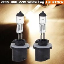 880 12V 27W Halogen Bulb Fog Driving Light White Super BRIGHT Bulbs x2