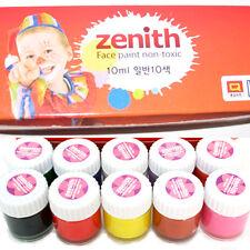 Bodypainting Farbe 10x10ml set Farben für Farbe für Körperbemalung Facepainting