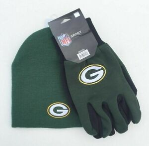 GREEN BAY PACKERS GLOVES AND BEANIE HAT SET