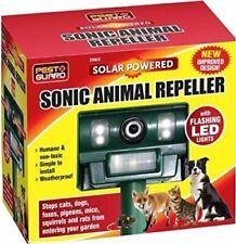 Pest Guard Solar Flashing LED Sonic Animal Repeller Deterrent Cat Dog Rats Birds