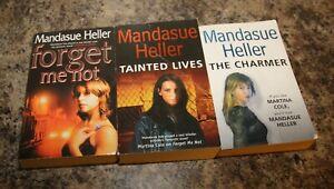 Mandasue Heller x3 Books Forget me not, Tainted Lives, The Charmer Job lot Bundl