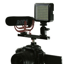 "6"" FLASH SHOE Extension Bracket / Bar DV DSLR Camera LED Light Mic SLR Hot Shoe"