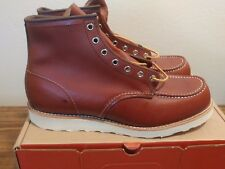 """Red Wing 6"""" Inch Moc Toe Leather Boot Copper Rough & Tough Sz 11.5D"""