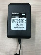 Linksys AM-1201000D41 / AD 12/1C AC Power Supply Adapter 12V  1000mA          G3