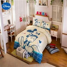 Mickey Mouse Bedding Sets king size Bedroom Decor Egyptian Cotton Bed sheet