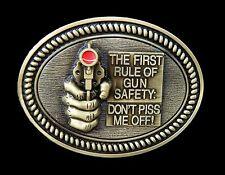 Boucle de Ceinture Rule Of Gun Safety Don't Piss Me Off Cool Belt Buckles