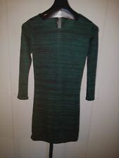 HYPE LS GREEN KNIT FITTED DRESS-JR L-NWT-COTTON/RAYON/SPANDEX-ADORABLE-COMFY