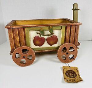"Boyds Bears Cora's Apple 🍎 Wagon Wooden Home Decor #658206-1  17"""