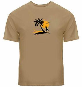 Mens Unisex Tee T-Shirt Graphic Printed Beach Surfboard Shirt Gift Wave Surf