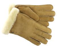 UGG Gloves Carter Sheep Shearling Chestnut Large NEW
