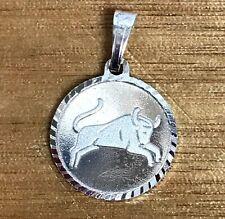 NEW Taurus Sterling Silver Zodiac Pendant 925 Horoscope Charm S/S Astrology Bull