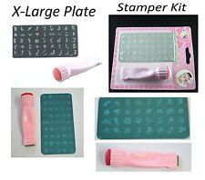 Nail Art Stamping Konad styled Kit -Decoration X-Large Image Plate, Scraper 3001