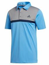 Adidas Novelty Colourblock Polo Shirt - Light Blue/Grey Three Mel