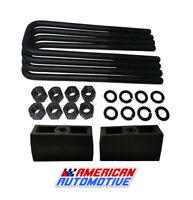 """Short U-Bolts 2WD 4WD Silverado Sierra 1500 1.5/"""" 2/"""" Rear Lift Add-A-Leaf Kit"""