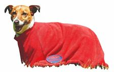 Weatherbeeta Dry-Dog Bag Microfiber Towelling Zip Along Bag for Wet Dogs RED XS