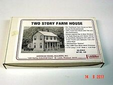 Ho scale 2 story Farm House Craftsman all wood/metal scale kit new in box