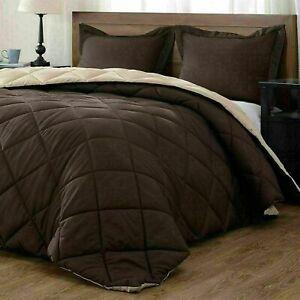 1800 Counts Reversible Microfibre Super Soft Only Bedding Brown Colour