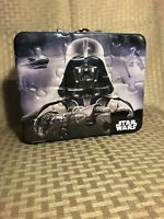 """Star Wars Darth Vader tin lunch box/carry all. Measures 8"""" x 6.5"""" x 3 1/4"""""""