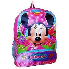 Minni Disney Ragazze 40.6cm Full-Size Scuola Zaino con / Matita Tasca Nuova