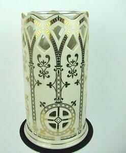 Vintage Lenox Votive Candle Holder Cut Out Ivory Bone China Millennium Series