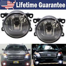 For 2011-2015 Ford Explorer 2009-2015 Focus Clear Lens Cree LED Fog Lights Lamp