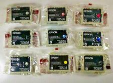 9x Epson T0591 T0592 T0593 T0594 T0595 T0596 T0597 T0598 T0599 Stylus Satz NEU