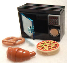 NEW LEGO MICROWAVE OVEN pizza pretzel croissant food kitchen minifig minifigure