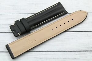 Omega Speedmaster Watch Strap Real Leather Black 20/18mm Unisex Hand Made