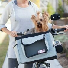 Snoozer Sporty Pet Bicycle Gray Basket Dog Carrier With Rain Cover