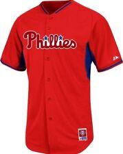 Philadelphia Phillies Cool Base Batting Practice BP Majestic MLB Jersey Sz 48